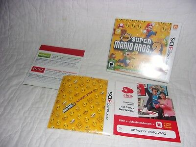 Nintendo 3DS NEW SUPER MARIO BROS. 2  - Case & Insert Only - NO GAME!