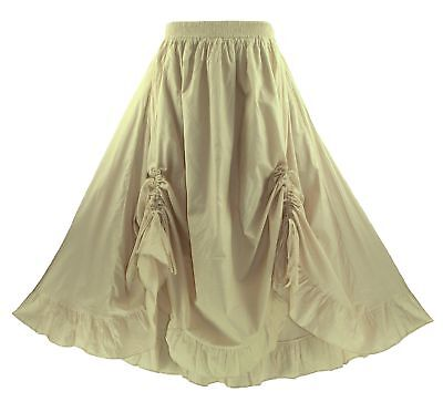 d1f7a36e0e3 Oat Women Cotton BOHO Gypsy Long Maxi Victorian Flare Skirt 1X 2X 18 20