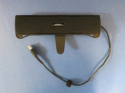 "Device USB Laptop ~ INSIGNIA ~ Black 9"" Sound Bar w/ 2 Speakers Model NS-SPKBAR"