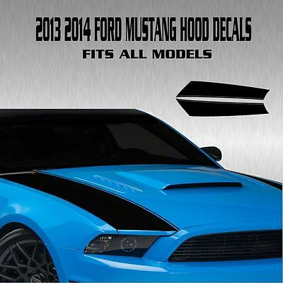 Ford Mustang Outer Hood Stripe Vinyl Decal Sticker Racing Rally Gt Shelby V6