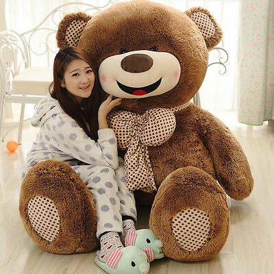 """72"""" Giant Teddy Bear Plush Toy Big Soft Doll Pillow With Zipper Only Cover Newly"""