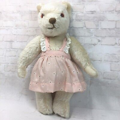 "Merrythought Vintage Teddy Bear London Gold Fully Jointed 17"" Plush Toy"