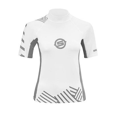 SeaDoo Vibe Rashguard Ladies 2864200409 White/Grey Jetski Waverunner Size SMALL
