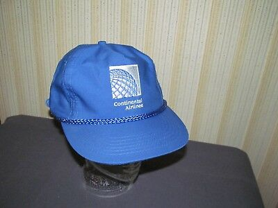 CONTINENTAL AIRLINES TRUCKER style blue hat cap sports golf vintage