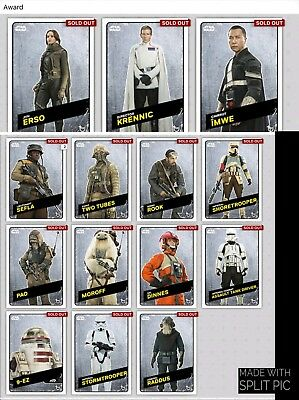 Topps Star Wars Card Trader Rogue One Challengers Steel Set & Meld & Jyn Chirrut