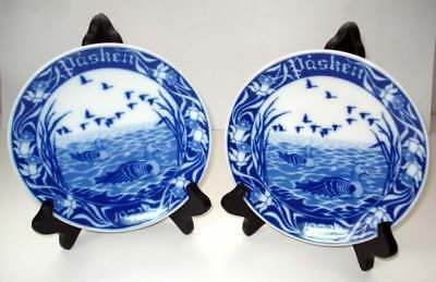 Pasken 1972 Blue Lake Easter Plate First Issue Limited Edition Porsgrunds Norway