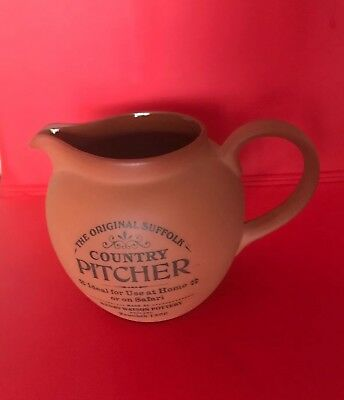 Hery Watson Pottery Country Pitcher Clay Orignal Suffolk England