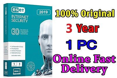 ESET INTERNET SECURITY 2019/22 - 1PCs 3Year - Full Version - 1095 Days