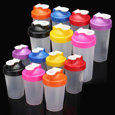 400ml Shake Gym Protein Shaker Mixer Drink Whisk Ball Portable Leakproof Bottle