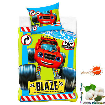 Blaze and The Monster Machines Cotton Bedding Set Official Duvet Cover & Pillow