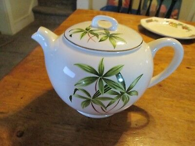 W S George Vintage Tea Pot Bamboo, trimmed gold