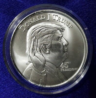 Ten 1 oz .999 Pure Fine Solid Silver ARt-Round ~ Donald Trump 45th President USA