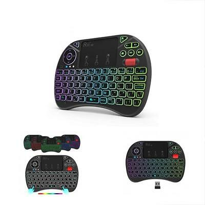 (Updated 2018,8-Color RGB Backlit) X8 2.4GHz Mini Wireless Keyboard With Mouse