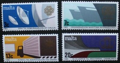 Anniversaries and events stamps, 1983, Malta, SG ref: 714-717, 4 stamps, MNH