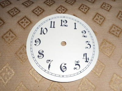 "Round Paper Clock Dial- 6 1/4"" M/T- Arabic-Gloss Cream -Face/ Clock Parts/Spares"