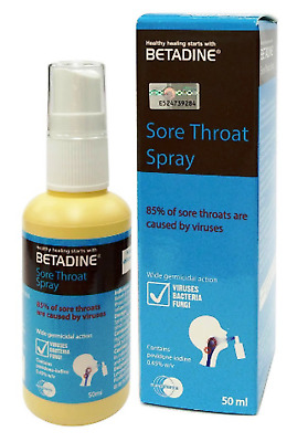 BETADINE SORE THROAT Spray Relief of Sore Throat and Mouth Ulcers