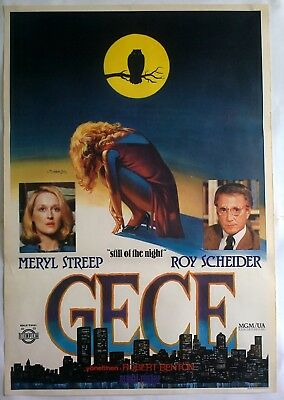 Still of the Night 1982 Roy Scheider Meryl Streep Vintage Movie Poster