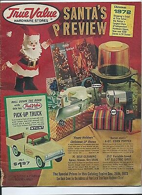 1972 vintage True Value Hardware CATALOG Christmas gifts stereo Ford truck bikes