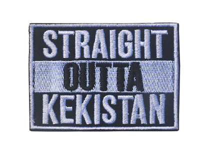 Straight Outta Kekistan Morale Military Tatical Hook & Loop Embroidery Patch