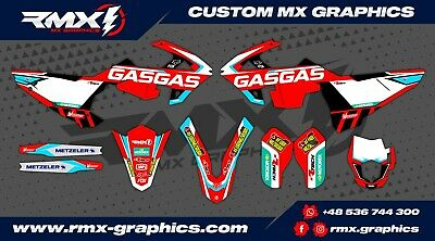 Gas Gas EC XC 2018 2019 Graphics Decals Stickers Dekor Rival Designs