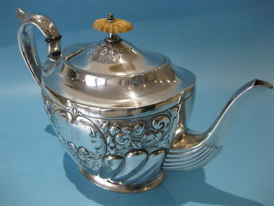 Beautiful Antique Silver Plated Ornate Victorian Repousse Hand-Engraved Teapot
