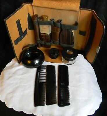 VINTAGE (30'S) MEN'S GROOMING SET WITH CASE and DRESSER ITEMS