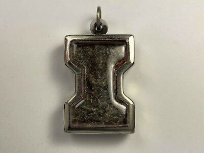 Ancient Thai Buddha Amulet in Steel Protective Case.