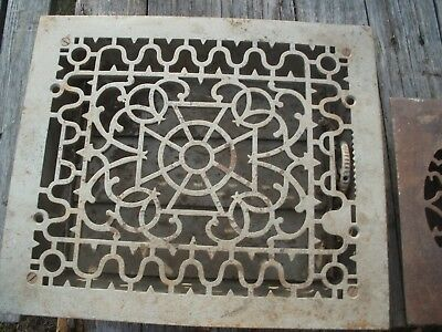 Antique  Iron Heat Grate Floor Vent Victorian Great Look