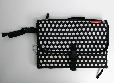Skip Hop Pronto Black and White Polka Dot Folding Portable Changing Mat Station