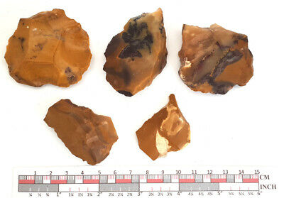 Mousterian tools in Fontmaure Multicolor Jasper NEANDERTHAL PALEOLITHIC #28