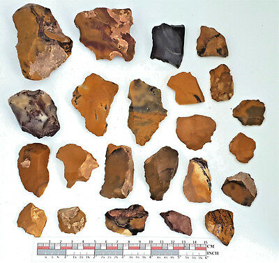 Mousterian tools in Fontmaure Multicolor Jasper NEANDERTHAL PALEOLITHIC #25