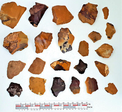 Mousterian tools in Fontmaure Multicolor Jasper NEANDERTHAL PALEOLITHIC #26