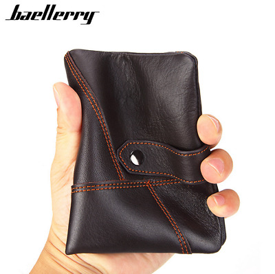 Men's Genuine Leather Cowhide Wallet Bifold Credit Card Holder Retro Coin Purse