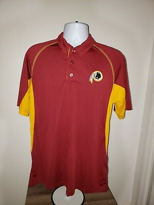NIKE Dri-Fit NFL Washington Redskins Logo Polo Short Sleeve Shirt Size  Large L ccf78fc8e
