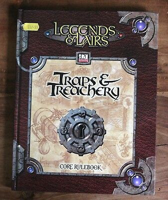 Dungeons & Dragons Legends & Lairs Traps & Treachery D20 System Tsr Ffg D&d Rpg