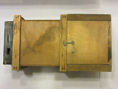 Antique Camera With Wood Box Frame