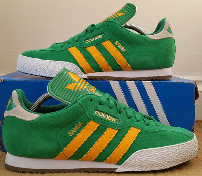 lace up in great prices new images of discount code for adidas samba green yellow ec6aa 9cb45