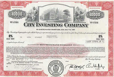 City Investing Co., 1970s, red