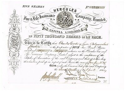 Hercules Fire & Life Insurance Co. Ltd., 1864