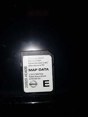 Genuine Nissan Connect 3 Navigation System Sd Map Data Card