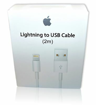 New Original OEM Apple iPhone Lightning USB Cable Charger 2m 6ft XS XR 6 8 plus