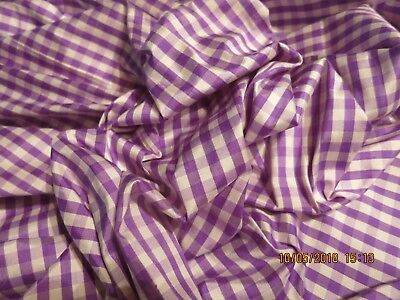 "Awesome Purple Ombre  Check Silk Taffeta  Huret Doll -Modern Dress 13"" X17"""
