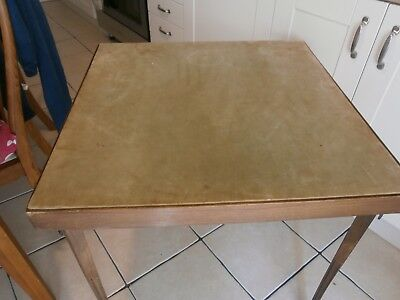 Vintage Edwardian Vono card table tapered & fluted legs