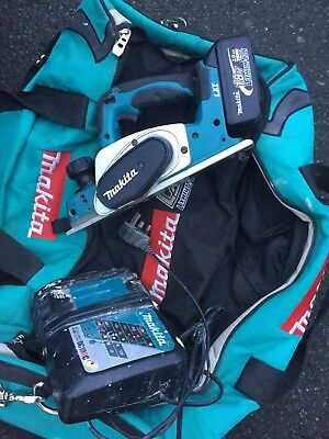 Makita BKP180 18V Cordless Lithium Planer fully working One Battery And Charger