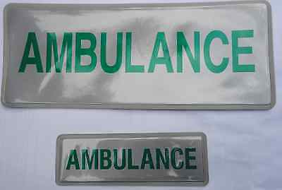 AMBULANCE badge (pair), reflective, sew-on, small and mid-size