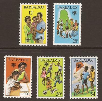 BARBADOS 1979 SG646/650 International Year of the Child Set MNH (WJ106)