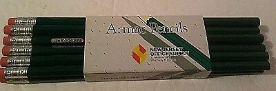 Armac Pencils New Jersey Office Supply Green Lot of 12 Unused