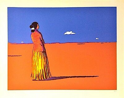 RC Gorman 'Navajo Summer' 1977 (1/7 Artist Proof) Hand Signed Stone Lithograph