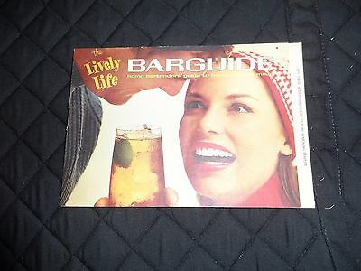 Vintage Lively Life Bar Guide Southern Comfort Corp. 1960's Recipes Tips Trivia