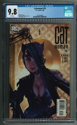 Catwoman #74 Adam Hughes Cover CGC 9.8 White Pages